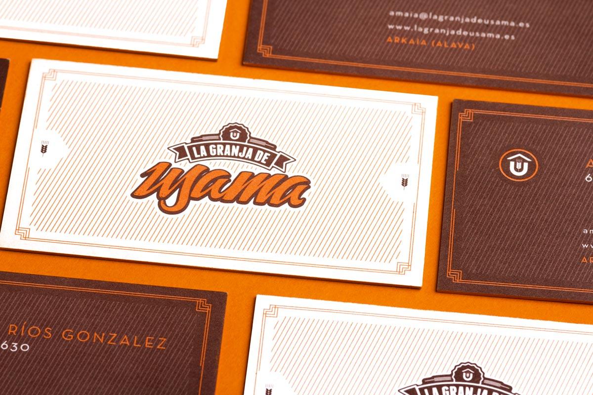 Identidad corporativa, logotipo La Granja de Usama. Humanos Unidos Comunicación. Vitoria-Gasteiz