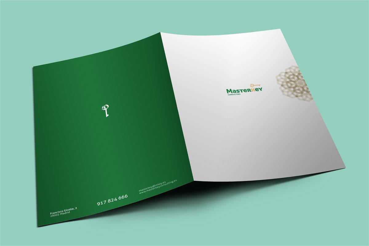 Identidad corporativa, logotipo Masterkey Consulting. Humanos Unidos Comunicación. Vitoria-Gasteiz