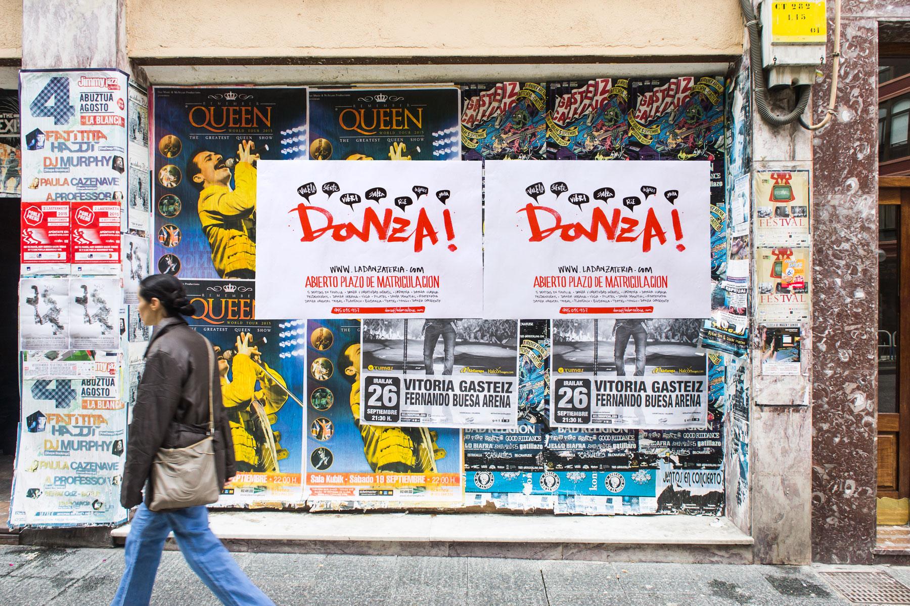 Campaña publicitaria La Danzateria. Humanos Unidos Comunicación. Vitoria-Gasteiz
