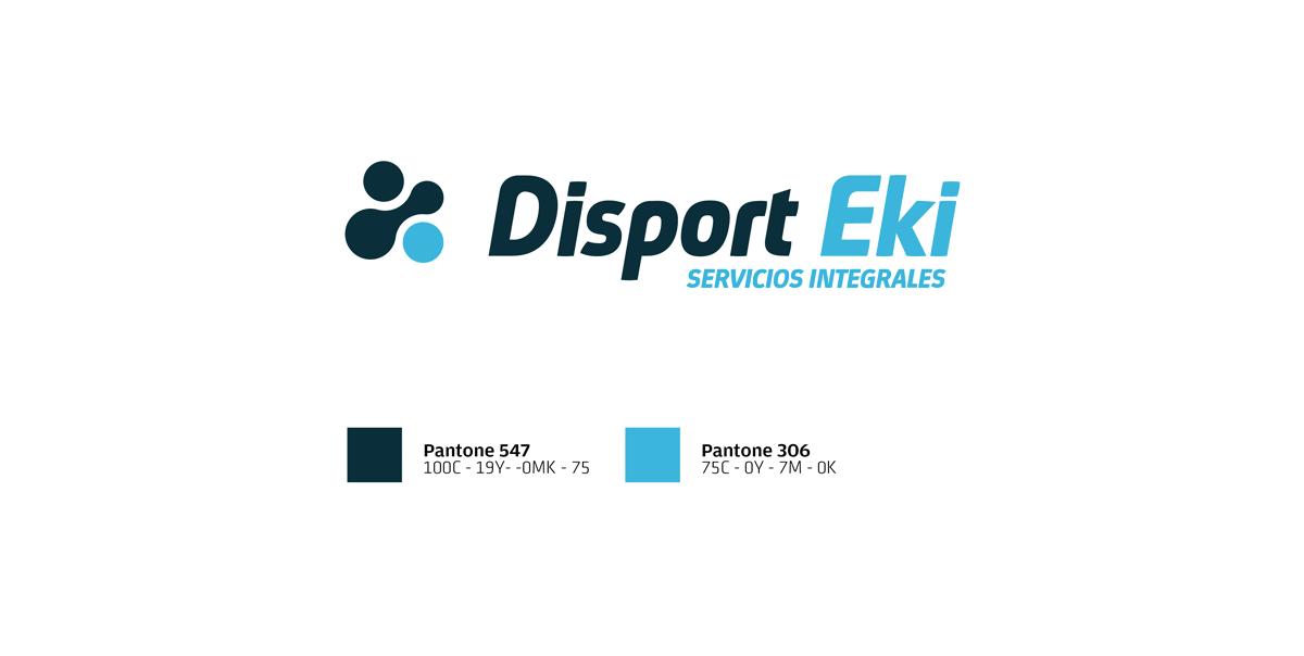 Identidad corporativa Disport Eki. Humanos Unidos Comunicación. Vitoria-Gasteiz