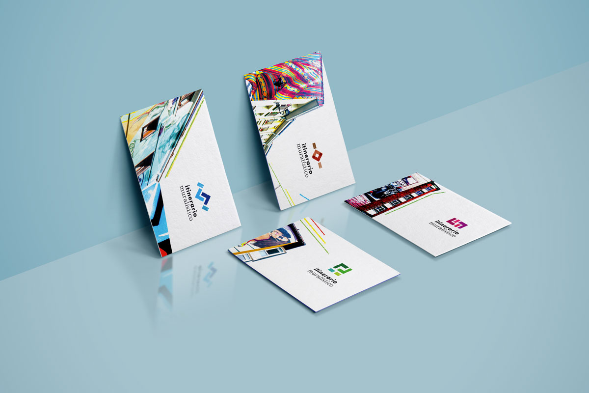 Branding e identidad corporativa, Itinerario Muralistico. Humanos Unidos Comunicación. Vitoria-Gasteiz