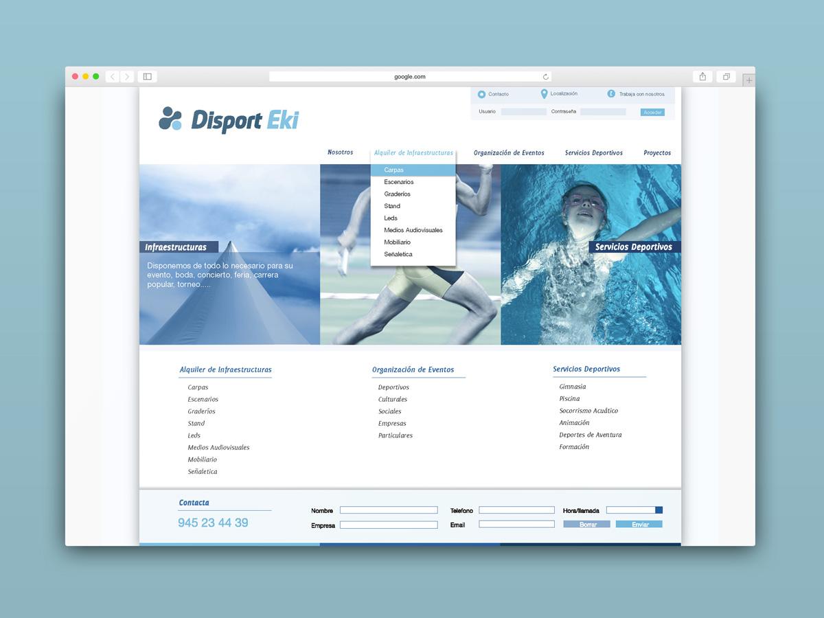 Diseño web e identidad corporativa, Disport Eki. Humanos Unidos Comunicación. Vitoria-Gasteiz
