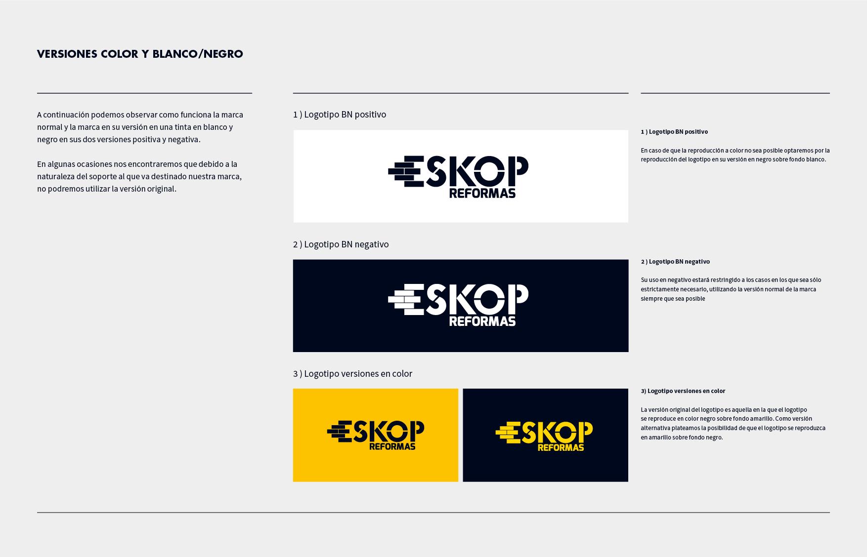 Identidad corporativa, ESKOP Reformas. Humanos Unidos Comunicación. Vitoria-Gasteiz