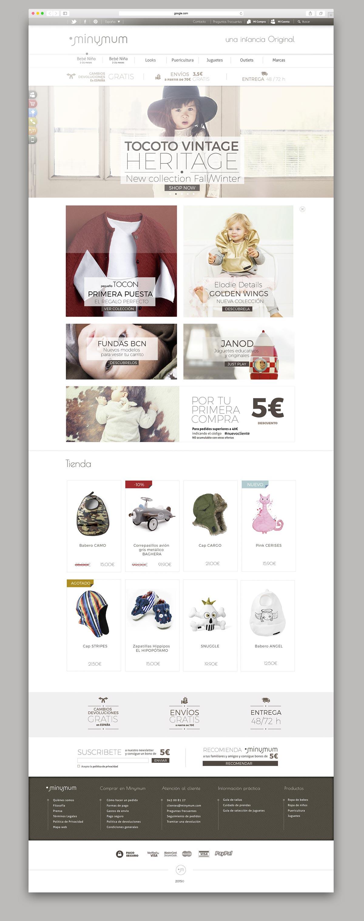 Diseño UI-UX. Identidad corporativa, Minymum. Humanos Unidos Comunicación. Vitoria-Gasteiz