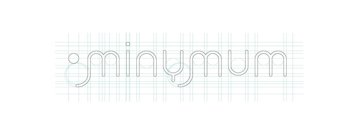 Identidad corporativa, logotipo Minymum. Humanos Unidos Comunicación. Vitoria-Gasteiz