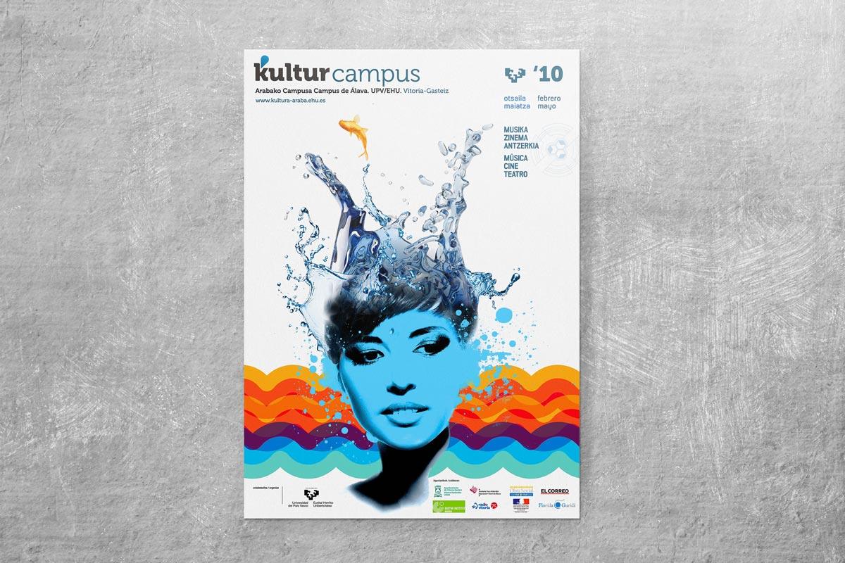 Diseño de carteles Kulturcampus. Humanos Unidos comunicación. Vitoria-Gasteiz